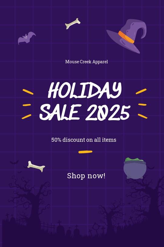 Free Simple Holiday Sale Tumblr Post Template.jpe