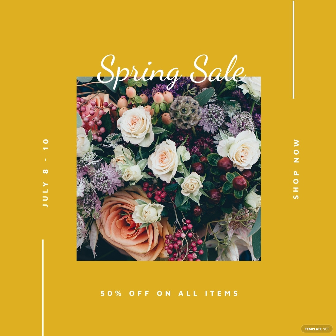Free Spring Sale Instagram Post Template