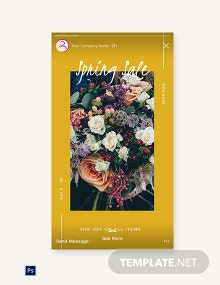 Free Spring Sale Instagram Story Template