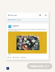 Spring Sale Linkedin Blog Post Template