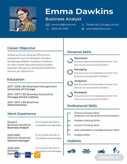 FREE Basic Analyst Resume Template  Word   PSD   InDesign