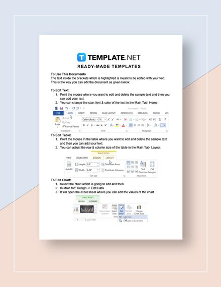 Marketing Plan Checklist Form Instructions