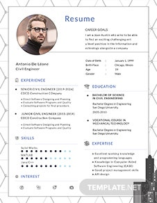 Civil-Engineer-resume-template(1) Template Cover Letter And Resume Free Ai Cv For Civil Engineer Vgwokq on