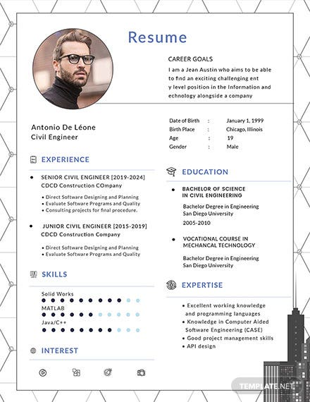 Free Civil Engineer Resume Template