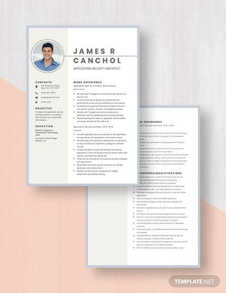 Application Security Architect Resume Download
