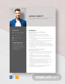 Document Review Attorney Resume Template