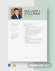 Dog Handler Resume Template