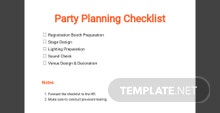 Party Planning Checklist Template