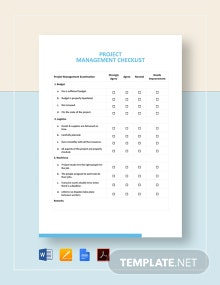 Project Management Checklist Template