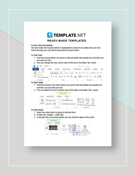 Restaurant Checklist Form Instructions