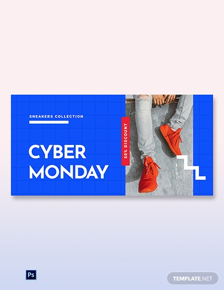 Free Cyber Monday Discount Sale Blog Post Template