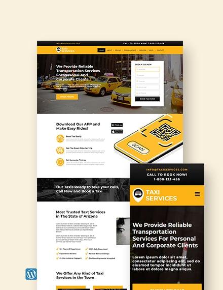 Taxi Services WordPress Theme/Template