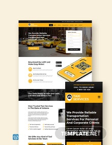 Taxi Services WordPress Theme/Template
