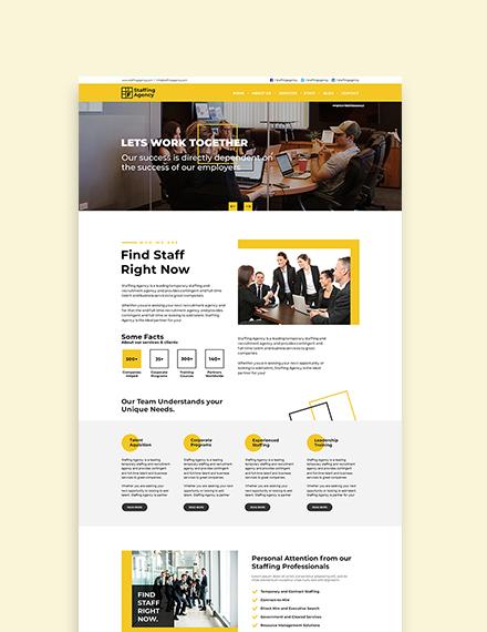 Sample Staffing Agency WordPress ThemeTemplate