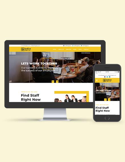Staffing Agency WordPress ThemeTemplate Download