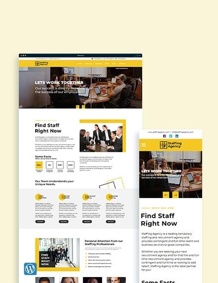 Staffing Agency WordPress ThemeTemplate