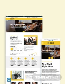 Staffing Agency WordPress Theme/Template