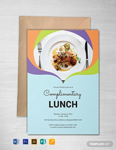 Free Complimentary Lunch Invitation Template