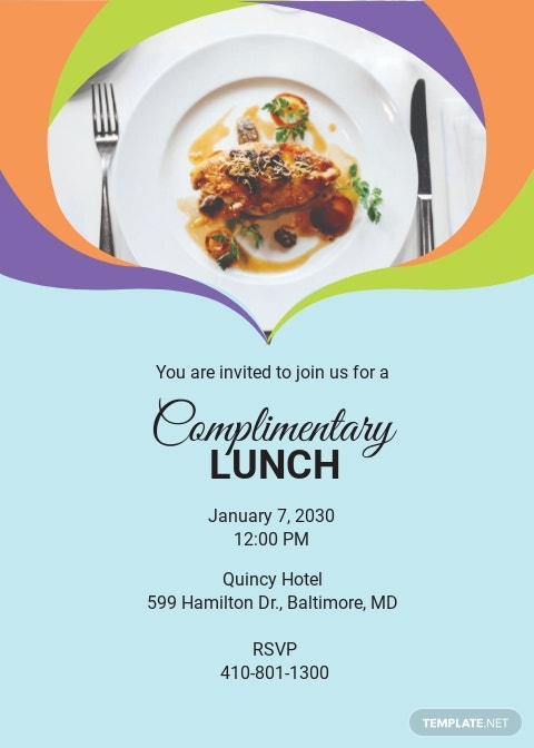Complimentary Lunch Invitation Template