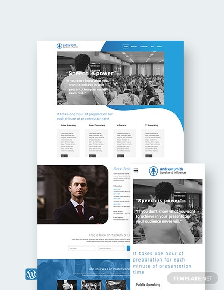 Speaker WordPress Theme/Template