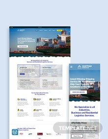 Shipping WordPress Theme/Template