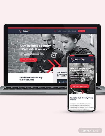 Security Guard Services WordPress ThemeTemplate Download