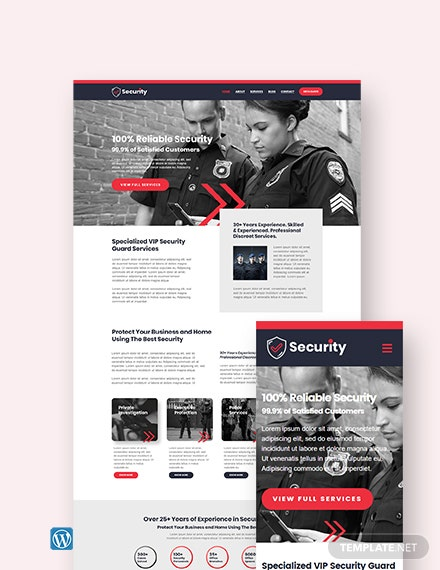 Security Guard Services WordPress Theme/Template