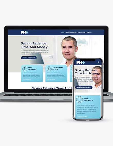 Pharmacy Landing Page WordPress ThemeTemplate Download
