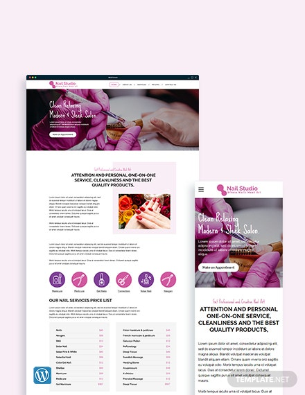 Nail Studio WordPress Theme/Template