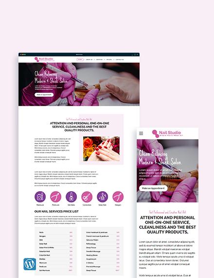 Nail Studio WordPress Theme/Template