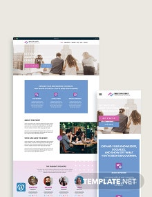 Meetup Event WordPress Theme/Template