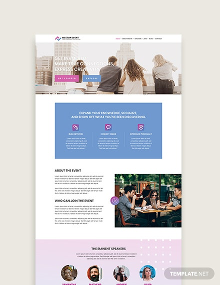 Sample Meetup Event WordPress ThemeTemplate