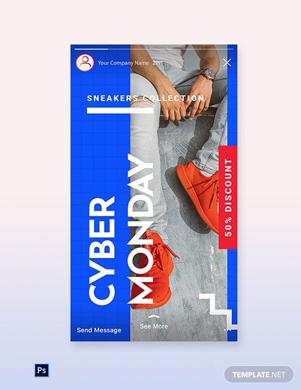 Free Cyber Monday Discount Sale Instagram Story Template