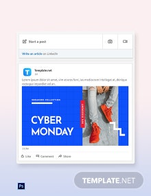 Free Cyber Monday Discount Sale LinkedIn Blog Post Template