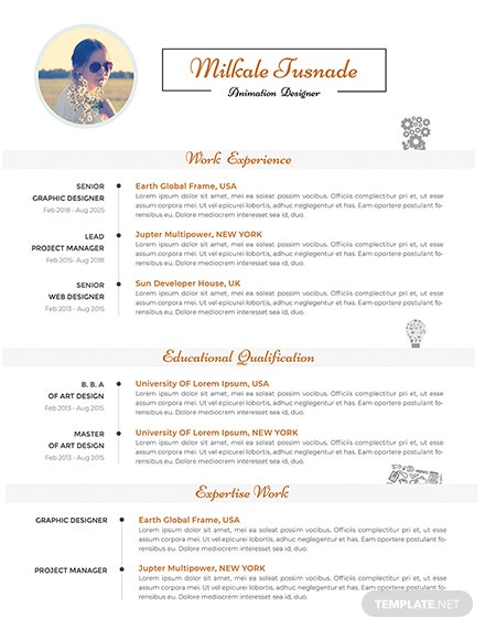 Free 2 Apple Pages Resume Template