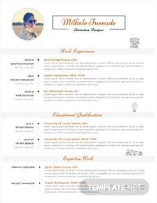 Free 2 Pages Resume Template