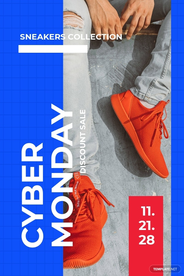 Cyber Monday Discount Sale Pinterest Pin Template