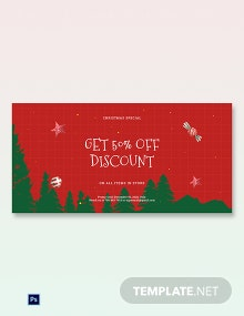 Holiday Off Discount Sale Blog Post Template