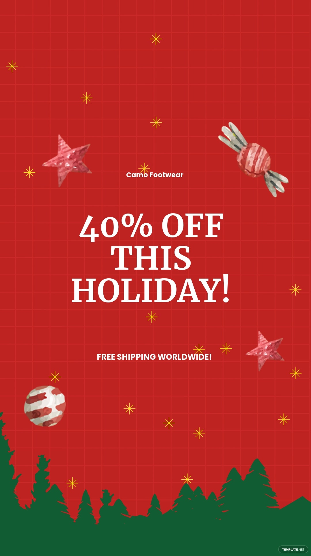 Free Holiday Off Discount Sale Instagram Story Template