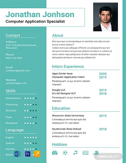 Free Bca Fresher Resume Template Word Doc Psd Indesign