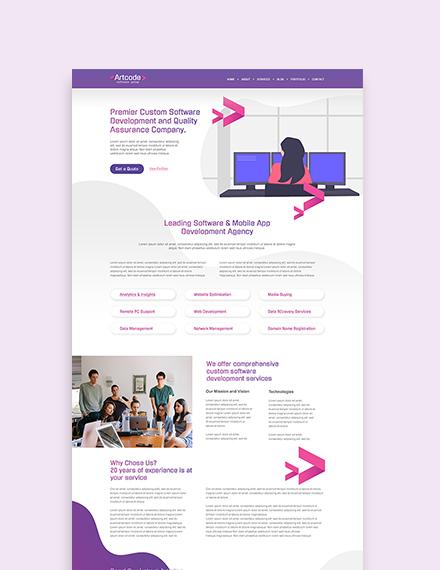 Sample IT Software WordPress ThemeTemplate