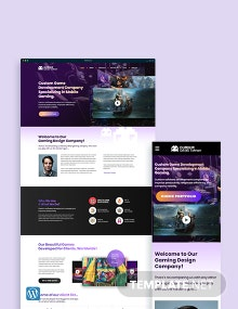 Gaming Company WordPress Theme/Template