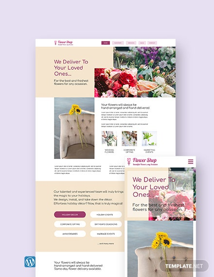 Flower Shop WordPress Theme/Template