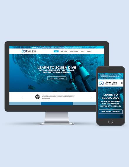 Scuba Diving School WordPress ThemeTemplate Downoad