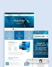 Scuba Diving School WordPress Theme/Template