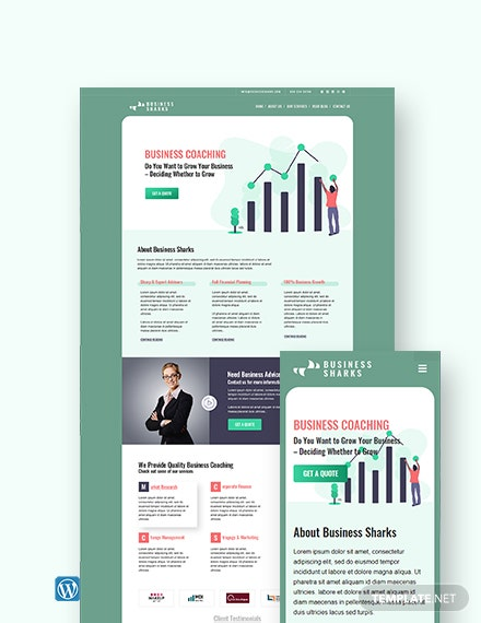 Business Coaching WordPress Theme/Template