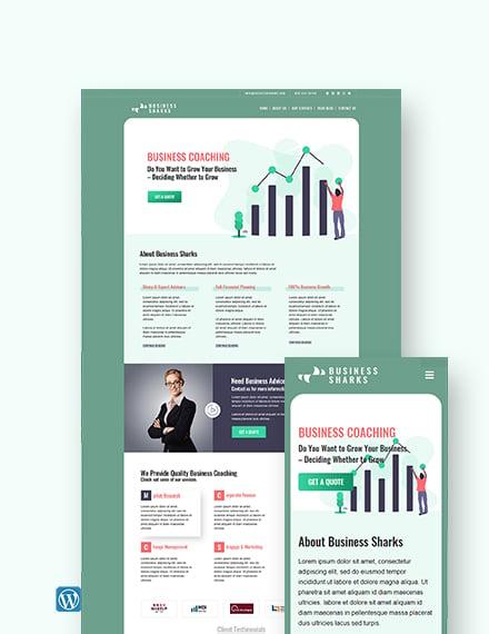 Business Coaching WordPress Theme/Template