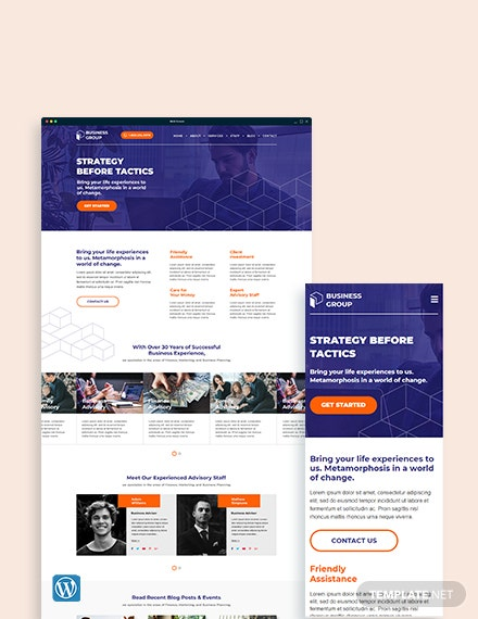 Business Advisor WordPress Theme/Template