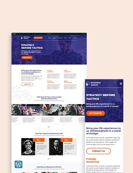 Business Advisor WordPress ThemeTemplate