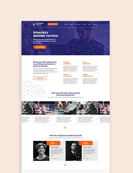 Sample Business Advisor WordPress ThemeTemplate